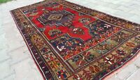 Rare Natural Dyes 4x8ft Antique 1900-1939s Tribal Wool Pile Dowry Rug Turkey