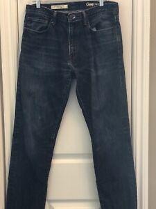 GAP 1969 Standard Taper Fit Zip Fly 100% Cotton Blue Jeans Men's Size 32 x 32