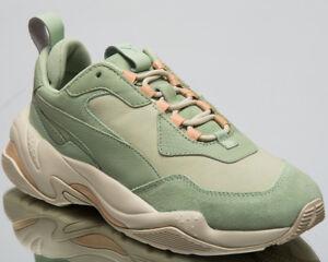 Puma Thunder Desert Women Lifestyle Shoes Smoke Silver Green Sneakers 368024-02
