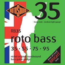 Rotosound RB35 Nickel Medium Light Gauge Roundwound Bass Strings (35 55 75 95)