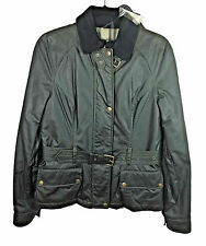 Belstaff Military Green Waxed Motorcycle Hemel Jacket Blouson Size 42 Made Italy