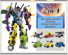 6в1 transformer Designer Kids Gift Robot LEGO Building Bricks Fur Transformation