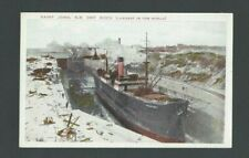 Ca 1930's PPC Saint John NB Canada Dry Dock (Largest In The World) Mint