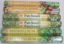 Hem Incense Set 6 x 20 = 120 Sticks (Patchouli, Patchouli Amber, Patchouli Musk)
