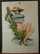 J. Frederick Smith May 1948 Pinup Calendar Top Girl Undressing By Tree