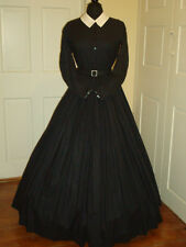 Civil War Reenactment Ladies Day Dress Size 26 Black  Mourning