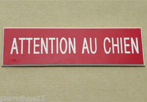 Plate Engraved Attention Au Dog Thick 1,6 MM Small Format