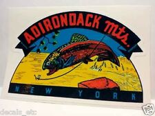 Adirondack Mountains NY Vintage Style Travel Decal / Vinyl Sticker,Luggage Label