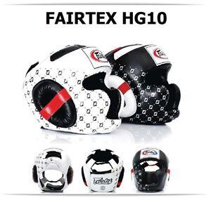 Fairtex Muay Thai Headguard HG10 Full Coverage Sparring Head Guard Kick Boxing