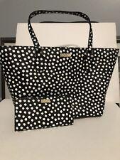 Kate Spade Dally Laurel Way Printed Dots Dot Tote Bag Handbag Stacy Wallet Set