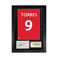 Authentic signed Framed Fernando Torres Reds in Liverpool shirt Print