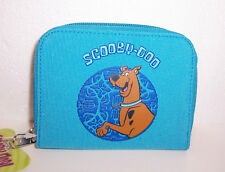 SCOOBY DOO BLUE Turquoise ZIPPERED Snap WALLET COIN PURSE ID Card Case Tote NEW!