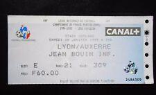 RARE TICKET OLYMPIQUE LYONNAIS -AJ AUXERRE 1ère DIVISION 1994/1995