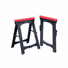 NEW! 2x Heavy Duty Folding Plastic Saw Horse Trestle Stands 150kg