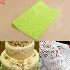 Large Silicone Lace Flower Mat Mould Sugarcraft Cake Decorating Fondant Mold