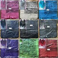 SPARKLY * * Dollar Print Long Thin Cotton Lurex Scarf Various Colours