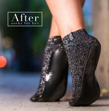 After Socks for Her - Night Out in High Heels - Foldable (Sparkly Black UK 4-5)