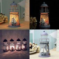 14cm Lighthouse Iron Candle Holder Nautical Beach Anchor Decoration Wedding New