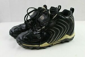 RAWLINGS youth boys non-marking black athletic football cleats size 6.5