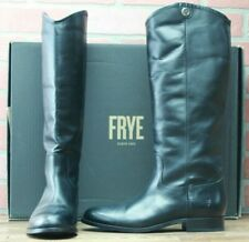 Frye Leather Melissa Button 2 75447 Knee High Riding Boots Black Size 8 M