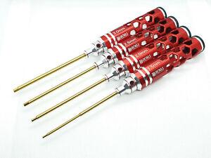 Hex Allen 4Pcs Metric Screwdriver Tool Set For RC Car - 1.5mm, 2mm, 2.5mm, 3.0mm