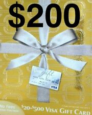 CARD $200 VANILLA VISA GIFT USE ANYWHERE ACTIVATED! SUPER FAST SHIPPING!