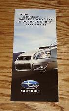 2005 Subaru Impreza WRX STI Outback Sport Accessories Foldout Sales Brochure 05