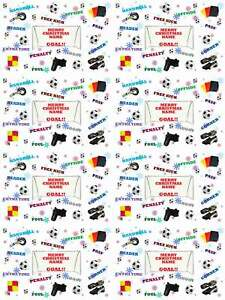 Football Personalised Christmas Gift Wrapping Paper 4 Designs ADD NAME