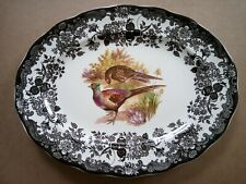 Royal Worcester Palissy Game Series Oval Serving Plate / Platter 30.5cm X 24cm