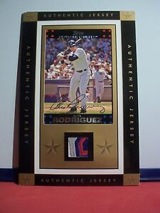5 x 7 Framed Jersey Patch Piece with Card Alex Rodriguez Topps 4 Color Patch