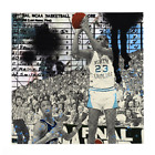 """Marly Mcfly The Shot Michael Jordan Print 18""""x18"""" Signed Numbered xx/82 COA"""