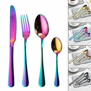 Iridescent Stainless Steel cutlery set Unique amazing colour