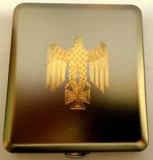 Zigarettenetui REICHSADLER mit 24 Karat vergoldung ! + Vergoldete Namens Gravur!