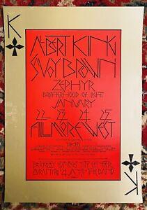 BG-213 ALBERT KING SAVOY BROWN ZEPHYR TOMMY BOLIN SINGER FILLMORE POSTER 1970
