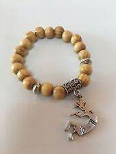 Vietnamese Blonde Pine Charm Bracelet/09 Silver Kokopelli