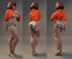 Sexy Velma Undressing | Miniature Pin Up | Resin Figure Garage Kit