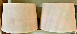 Tapered Drum TEXTURED Lamp Shades (2) Spider Fitter Faux Reptilian Lizard