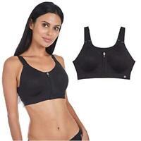 Women's Performance Max Support Zip Front Sports Bra, Black, Size  BabV