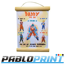 Fathers Day Gift Diploma Daddy Dad  Dragon Ball  Goku  Personalised Birthday