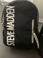 Steve Madden BFORCE 3 Backpack With Logo Zip Pouch. Black/white New With Tags