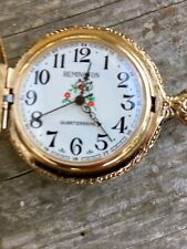 Vintage RARE Remington Gold Pocket Watch 200 Years of Freedom Mt. Rushmore 1970s
