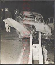 Vintage Car Photo Unusual 1951 DeSoto Automobile v Guard Rail Wreck 666154
