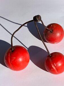 Vintage Alabaster Italian Cherries Carved Stone