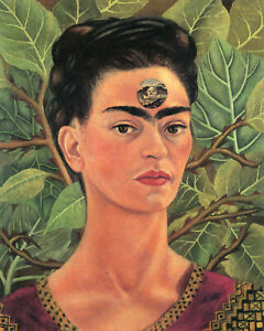 Frida Kahlo - Thinking About Death  - CANVAS OR PRINT WALL ART