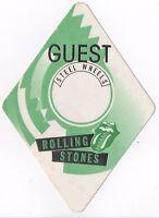 Rolling Stones - Original Steel Wheels US Tour 1989 Cloth Guest Pass Unused