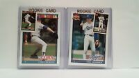 Uncirculated 1991 Topps Lance Dickson + Orel Hershiser + Mini's