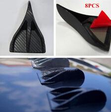 8 Pcs Auto Car Roof Carbon Fiber Look Generator Shark Fin Spoiler Wing Antennas
