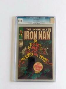 IRON MAN #1 CGC 8.0 MARVEL COMICS ORIGIN OF IRON MAN