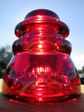 Vintage hemingray 45 Cd 155 Glass insulator Colored / Stained Ganet Red