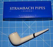 W&B STEM rare Hand Made premium MEERSCHAUM pipe by STRAMBACH of Austria (bauer)☦
